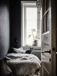 Scandinavian interior in black and white #hometour #designoutfit #interiordesign