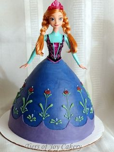 "Princess Anna doll cake from Disney's ""Frozen""."