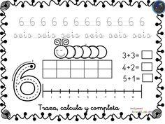 Colección de fichas para trabajar los números del 1 al 30 - Imagenes Educativas Kindergarten Math Activities, Letter Activities, Preschool Spanish, Math Numbers, Kids And Parenting, Homeschool, Diagram, Teacher, Classroom