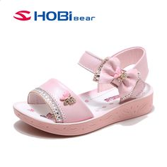 2018 summer Children Sandals for Girls Genuine Leather Bow Sandals casual Kids Shoes Toddler beach Sandals princess Sandals. Toddler Sandals, Toddler Girl Shoes, Kids Sandals, Beach Sandals, Little Girl Shoes, Girls Shoes, Baby Shoes, Victoria Shoes, Toddler Beach