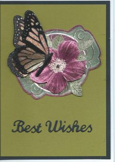 """butterfly & floral """"Best Wishes"""""""