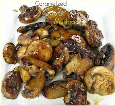 The secret to delicious caramelized mushrooms.  Don't stir!
