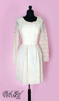 60's wedding dress