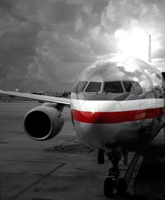 Boeing 767 American Airlines waiting for the passengers!