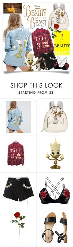 """""""Any ideas on what I might see tonight?"""" by lseed87 ❤ liked on Polyvore featuring Disney, MINKPINK, Danielle Nicole, Forte Couture, Gap, Emma Watson, EmmaWatson, belle, BeautyandtheBeast and BATB"""