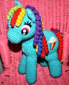 Opskrift på hæklet My Little Pony! - Krudtuglens Mors Univers