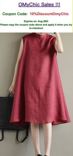 burgundy brief linen drsses baggy loose casual sundress
