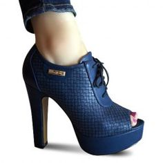 $38.11 Fashion Women's Ankle Boots With Peep Toe and Metal Design