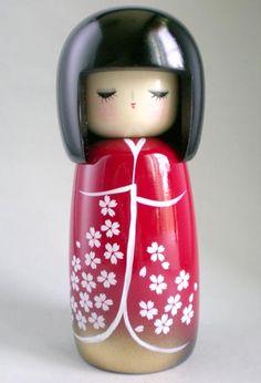 Japanese Kokeshi Doll Cherry Blossom