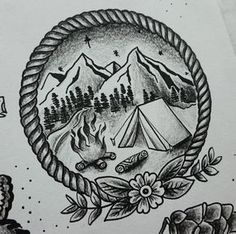Coming home - tattoos - Camping Diy, Group Camping, Camping Gadgets, Winter Camping, Camping Recipes, Camping Meals, Family Camping, Tent Camping, Body Art Tattoos