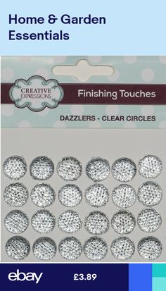 12 Beautiful Clear Silver Heart Sparkle Dazzlers 12mm New 27H
