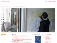 Clean website design example: The Design Office