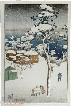 Charles W. Bartlett (1860-1940), Japan Series: Negishi, woodblock print, ca. 1916.