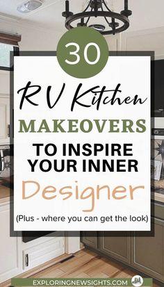 Rv Kitchen Remodel, Green Subway Tile, Rv Campers, Camper Life, Rv Life, Diy Rv, Stick On Tiles, Rv Interior, Camper Makeover