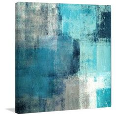 Meditation in Blue Canvas Print