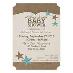 Cowboy Baby Shower Invitation Brunette Western Pinterest