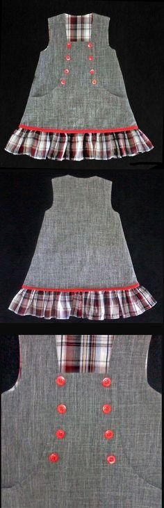 The Effective Pictures We Offer You About toddler girl outfits fall A quality picture can tell you m Frocks For Girls, Kids Frocks, Little Girl Dresses, Girls Dresses, Baby Dress Patterns, Frock Design, Toddler Dress, Toddler Girl, Baby Sewing