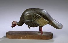 Carved Wood Turkey, - Cowan's Auctions