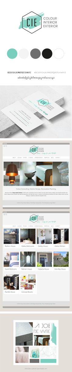 Colour Interior Exterior Brand Styling Website Design - Kaleidoscope Design Studio