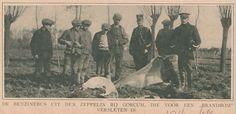 Katholieke Illustratie - 1916 - Zeppelin brandbom nabij Gorinchem blijkt benzineblik   by Barry van Baalen