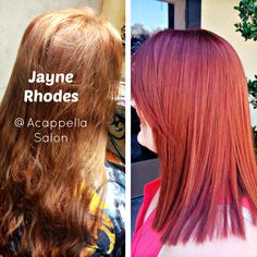 By: Jayne Rhodes #acappellasalon #acappellahairdesign #eufora #redhair #hair #haircolor #redhead #beforeandafter