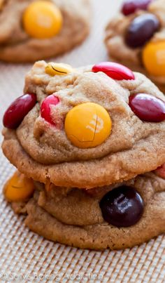 Peanut Butter M&M Cookies.