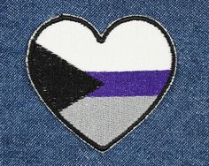 Heart Demi / Demisexual Pride Patch