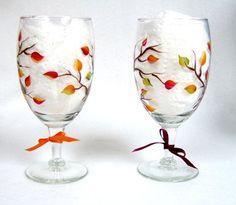This design on wine glasses