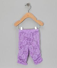 Take a look at the Purple Lace Leggings - Infant, Toddler & Girls on #zulily today!