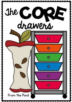 Core Drawers Organize your Kinder Classroom Instruction $