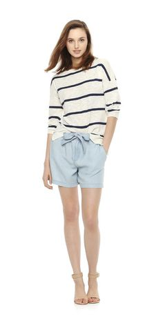 Stripe Light Sweater from Joe Fresh. The stripe sweater goes light in a drapey fit and airy fabric for summer. Only $29.