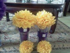 Centerpieces / tissue paper flowers