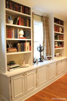 HOUSEography: built in cabinets for the dining room.  Would love to do this in the piano/library room (living room)