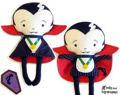 Vampire Dracula sewing pattern by Dolls And Daydreams, via Flickr