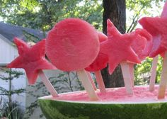 Adorable and healthy idea for watermelon pops from one of Cultural Care Au Pair's Local Childcare Consultants, Amy, also known as the fearless homemaker.  Thanks, Amy!