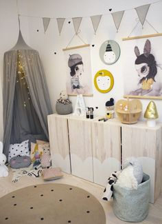 20 Baby Girl Room Ideas (The Cutest Overload) Girl Bedroom Designs, Girls Bedroom, Baby Decor, Kids Decor, Boy Room, Kids Room, Little Girl Rooms, Kid Spaces, Kid Beds