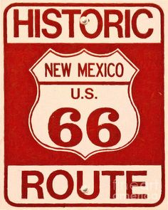 Historic Route 66 New Mexico by Wingsdomain Art and Photography