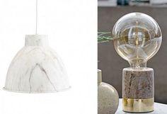 Le marbre dans les luminaires. - Marble light.