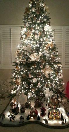 Christmas village under tree ♥