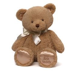 "GUND knows that it's never too early to make a lifelong friend. My First Teddy is a soft and huggable 18"" companion that's always ready for naptime, playtime, and any time in between. Designed with de"