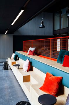 Vipps HQ Norway - Emma Canny Vipps HQ Norway Creating the Anti-Office for Vipps with Radius Design a Creative Office Space, Office Space Design, Workspace Design, Office Interior Design, Office Interiors, Architecture Restaurant, Interior Architecture, Commercial Design, Commercial Interiors
