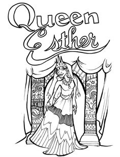 Free Esther Coloring Page