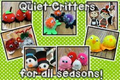 Quiet critters help keep a classroom quiet! I have a new set of critters for each month. Student love and anticipate the next quiet critters!