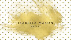 Stylish White and Gold Polka Dots Gold Splatter Artist Business Cards https://www.zazzle.com/pd/spp/pt-zazzle_profilecard?dz=d49741cf-e7d3-4756-b363-efb79c44a9d6&clone=true&pending=true&size=business&media=thick_plainwhite&cornerstyle=normal&design.areas=%5Bbusiness_front_horz%2Cbusiness_back_horz%5D&CMPN=shareicon&lang=en&social=true&view=113405369407848596&rf=238835258815790439&tc=GBCHandcrafting1Pin