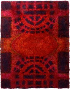 Anonymous; Wool Rya Rug, c1970.