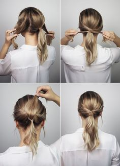 10 office hairstyles you should try if you& a lazy girl - . - 10 office hairstyles you should try if you& a lazy girl – must are - Office Hairstyles, Up Hairstyles, Pretty Hairstyles, Easy Ponytail Hairstyles, Easy Work Hairstyles, Simple Hairstyles For Medium Hair, Waitress Hairstyles, Twisted Ponytail, Hairstyle Ideas