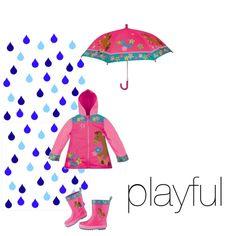 """Playful Horse Rain Wear combo by Stephen Joseph"" by rainydaykids on Polyvore"