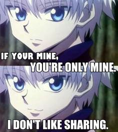 Hunter x Hunter - Kirua - Si tu es à moi, tu es seulement à moi. Je n'aime pas partager.