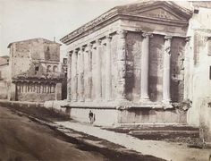 ROME Temple of Portunas 4 other Italy Antique Albumen Photographs Trieste, Sissi, Narnia, Rome, Temple, Louvre, Italy, History, Antiques