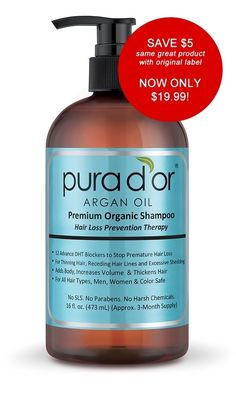 Picture of Premium Organic Argan Oil Based Hair Loss Prevention Therapy Shampoo